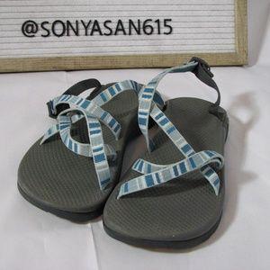 Chaco Sandals Blue Stripe 7 Women